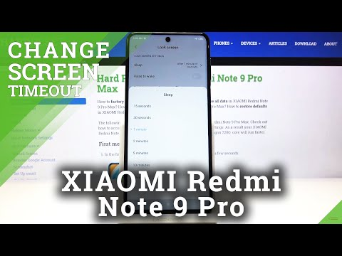 How to Change Screen Timeout in XIAOMI Redmi Note 9 Pro – Display Settings