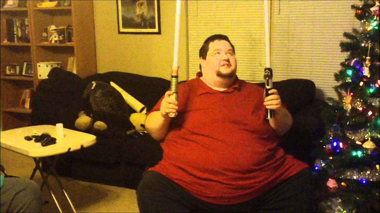 ORIGINAL Early Christmas Present Light Sabers Fat Guy