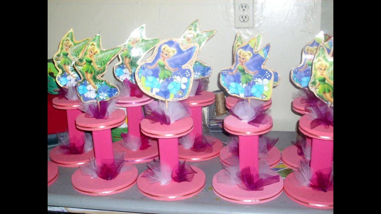 Como hacer un centro de mesa para fiesta PASO a PASO  YouTube