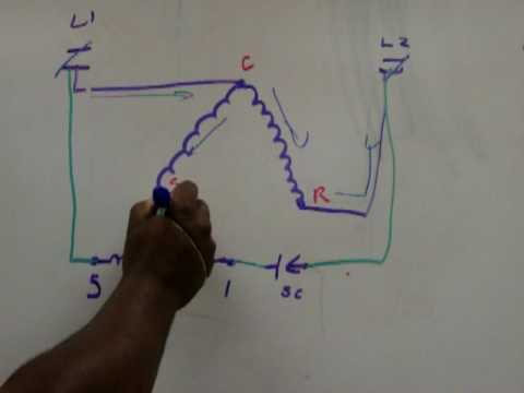A C Compressor Wiring Diagram Potential Relay Youtube