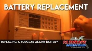 Replacing a burglar alarm battery  YouTube