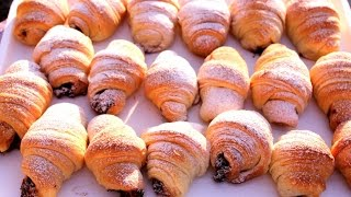 Posne kiflice - Quick Croissants Recipe