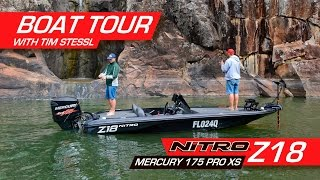 Nitro Z18 with Mercury 175 OptiMax Pro XS tour with Tim Stessl