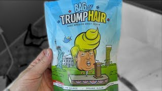 Eating a Bag of Trump's Hair!