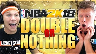 HUGE DOUBLE OR NOTHING WAGER VS JESSERTHELAZER! NBA 2K18 MYTEAM