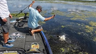 I Almost Lip an Alligator! Bass Fishing with the Subscriber Winner
