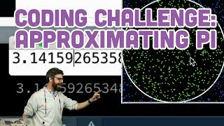 Coding Challenge #95: Approximating the Value of Pi
