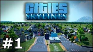 Cities: Skylines #1 - Ścieki do rzeki?   POLSKI GAMEPLAY