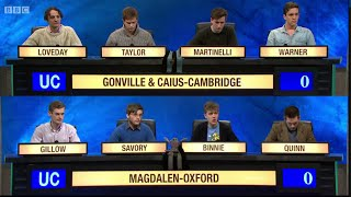 University Challenge S44E31 Gonville and Caius, Cambridge vs Magdalen, Oxford