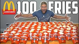 100 McDONALD's FRIES MONOPOLY EXPERIMENT CHALLENGE!