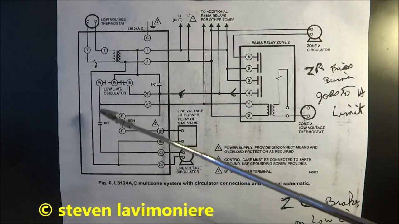 hight resolution of old honeywell v8043 wiring diagram data diagram schematic wiring 3zone with honeywell l8148j honeywell v8043e and low wiring