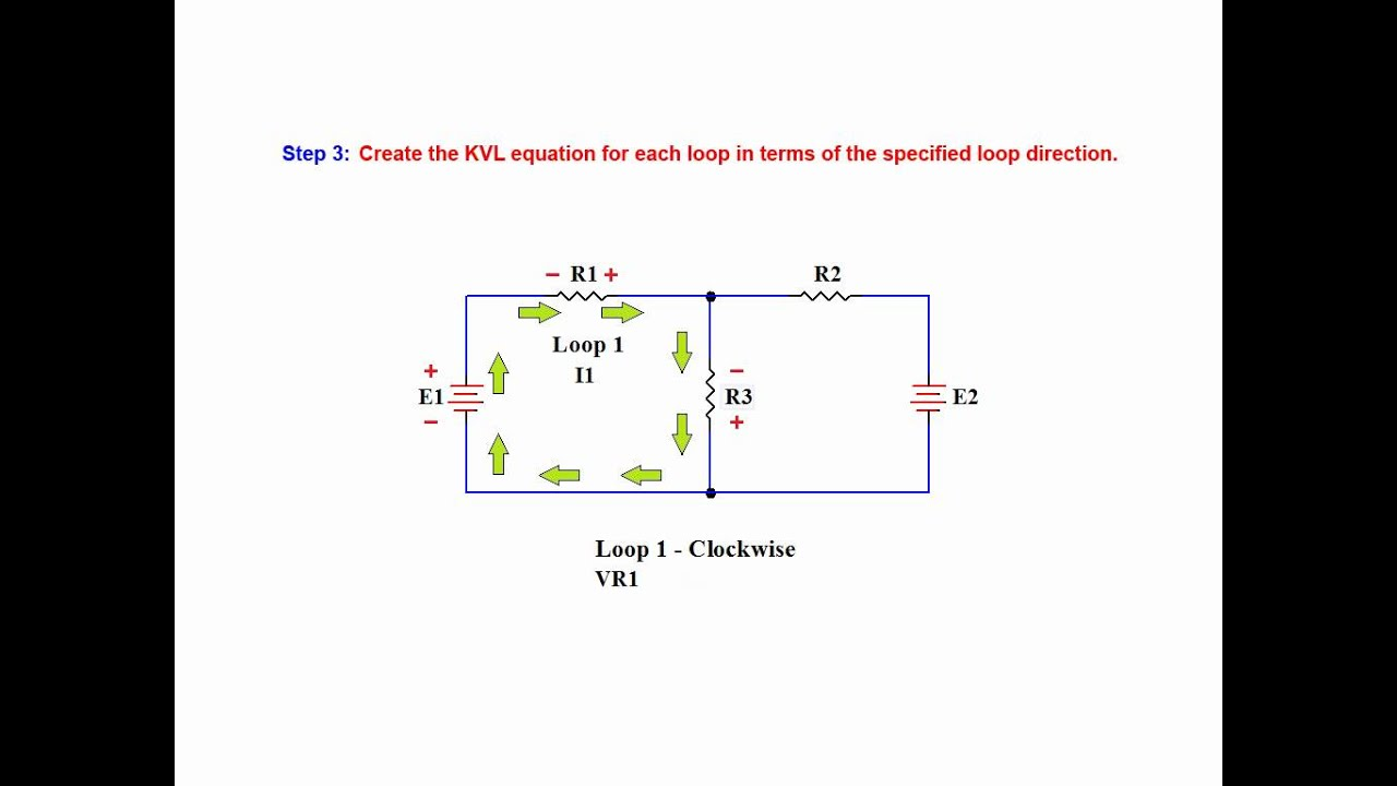 To Calculate The Current Through Resistor R 1 In The Two Loop Circuit