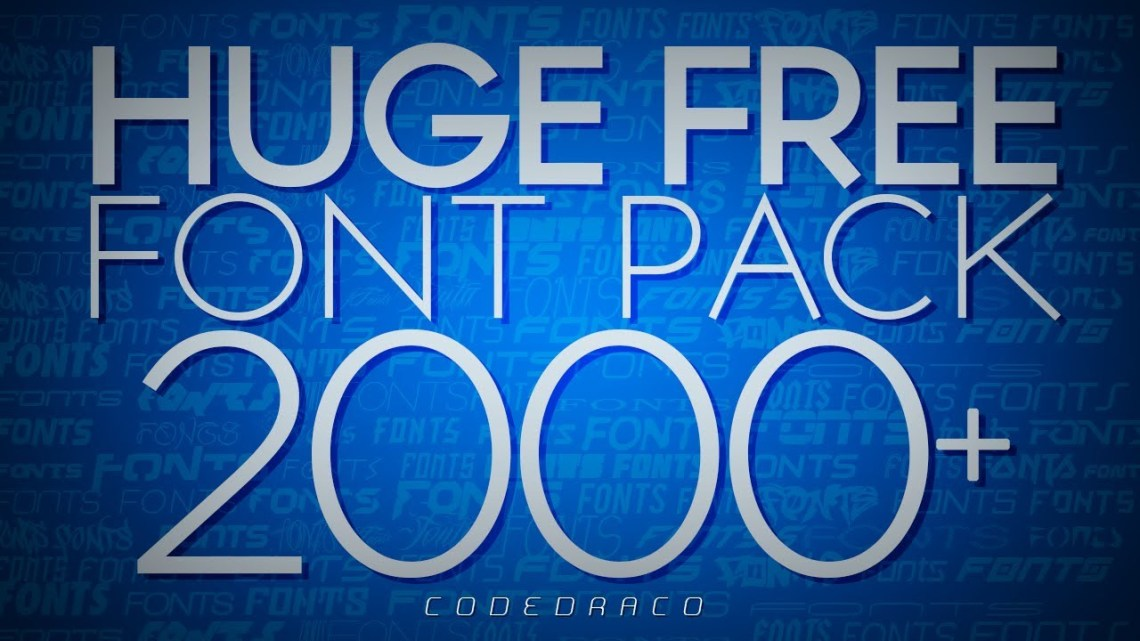 Download HUGE FREE FONT Pack - Over 2000+ Fonts! | 9K - YouTube