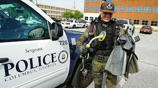 Helping the Police Find a Gun Underwater to Solve a Criminal Case! (Metal Detecting Underwater)
