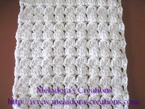 Cluster Stitch Scarf  Crochet Tutorial  YouTube