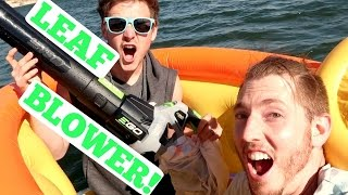 EPIC BOUNCE HOUSE RAFT!
