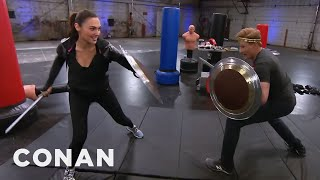 Conan Works Out With Wonder Woman Gal Gadot - CONAN on TBS