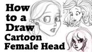 draw cartoon female head