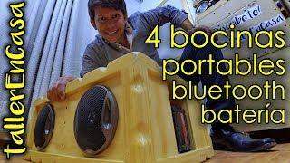 Como hacer altavoces bluetooth de 4 bocinas