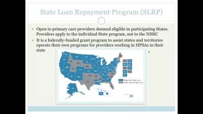 National Health Service Corps Loan Repayment Program ...