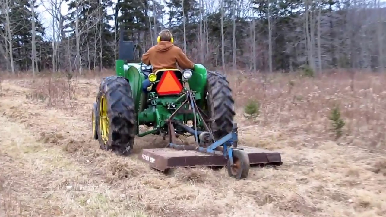 Ford 939 bush hog and John Deere 1010 HD  YouTube