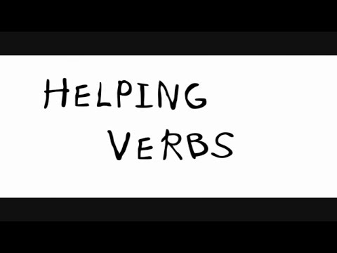 English grammar song to learn helping verbs for kids