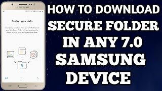 How To Secure Folder IN Samsung Device || How To Secure Folder