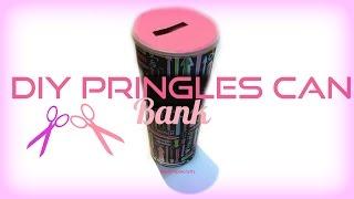 DIY Pringles Can Piggy Bank! SO SIMPLE Free Download Video