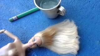 Como fazer mechas no cabelo da barbie