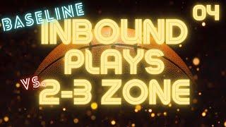 Inbound plays against 2-3 zone