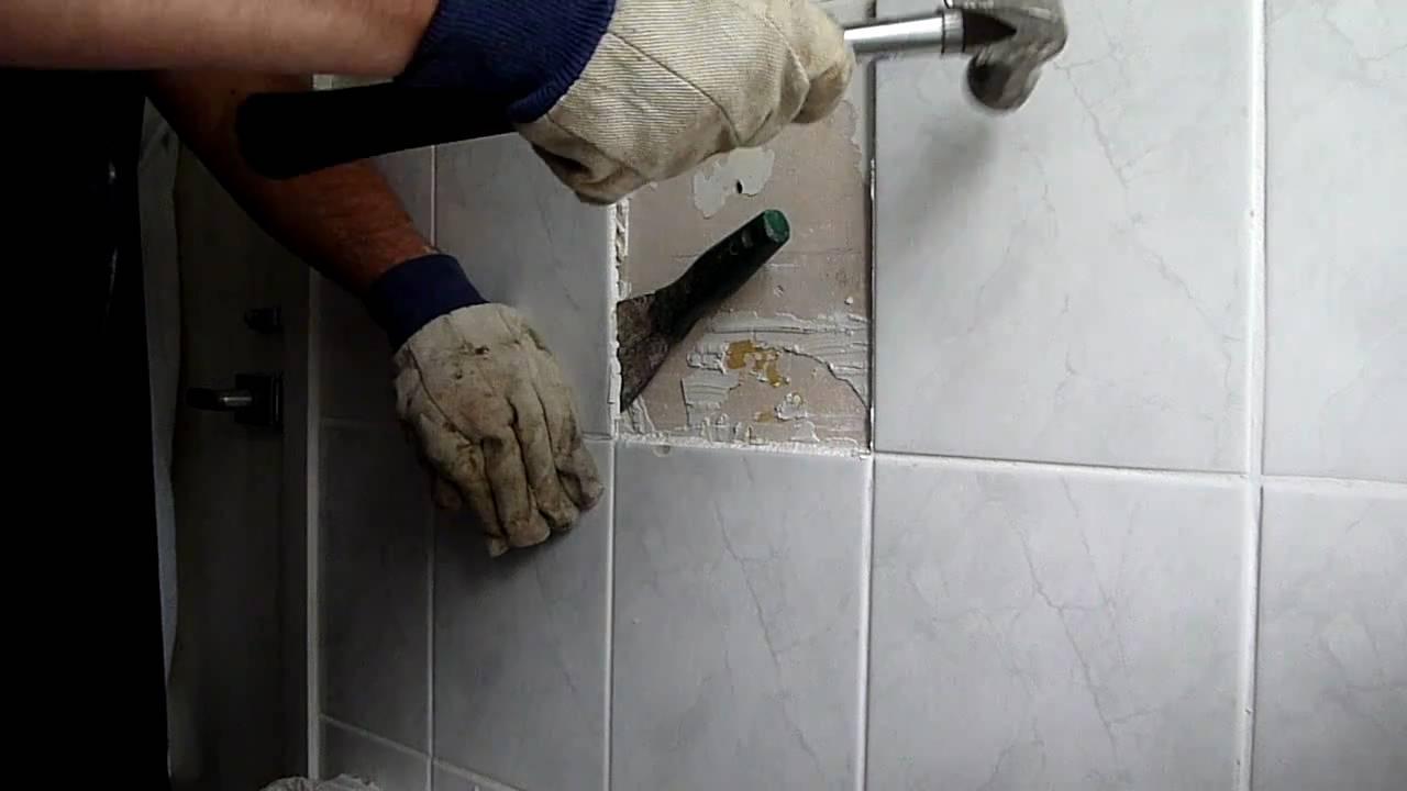 removing bathroom tiles  YouTube