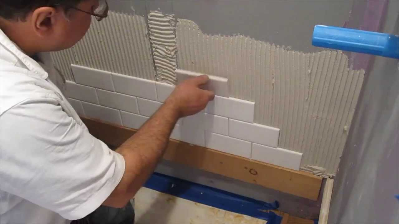 Subway tile shower install time lapse  YouTube