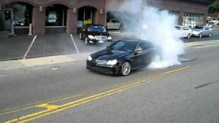 Mercedes Benz CLK63 Black Series Burnout