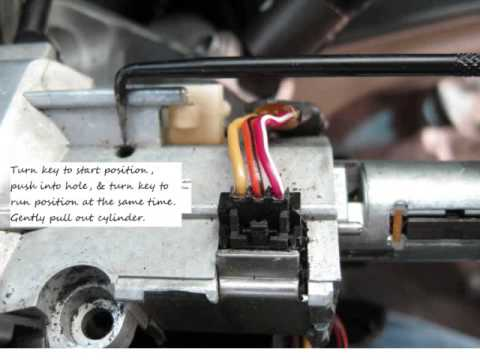 2006 Avalanche Wiring Diagram 99 Tahoe Ignition Cylinder Removal With Passlock Youtube