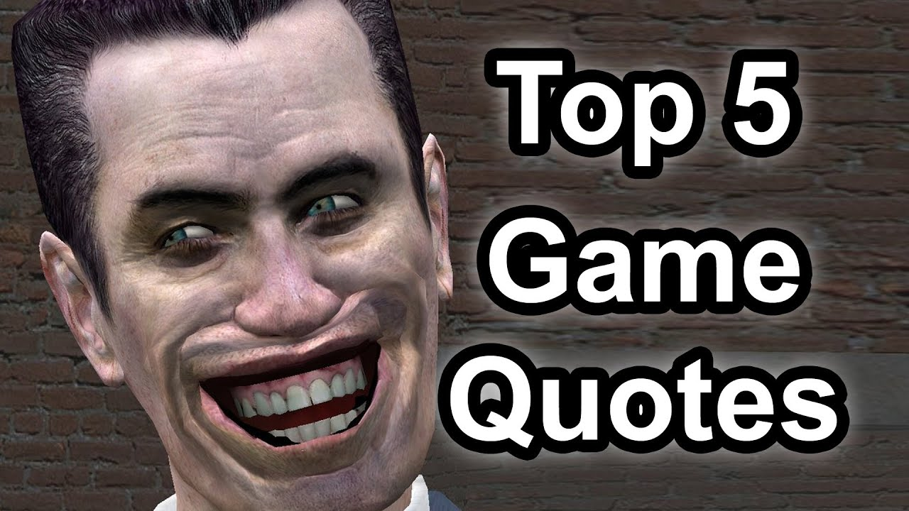 Videogame Wallpapers With Quotes Top 5 Game Quotes Youtube