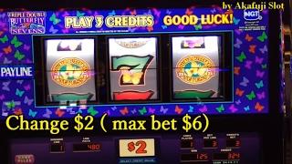 ★BIG WIN LIVE★Triple Double Butterfly Slot Denom Max Bet $6, Cosmopolitan Las Vegas, Akafujislot