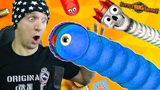 ОГРОМНАЯ ЗМЕЯ в игре Little big snake Смешные Моменты сражения змей от FFGTV Веселый Летсплей