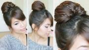 braided fan bun updo hairstyle