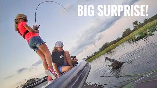 Little Girl with a BIG SURPRISE While Bass Fishing...With Teeth!