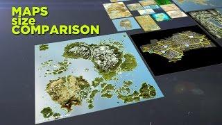 game maps size comparison