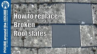 How to replace a broken roof slate. Cracked fibre cement slate repair.
