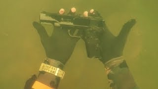 Found ″Gun″ Underwater in River While Scuba Diving for Lost Valuables! (Dangerous Diving Spot)