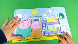 Peppa Pig 7 Wooden Puzzles We Unbox & Collect