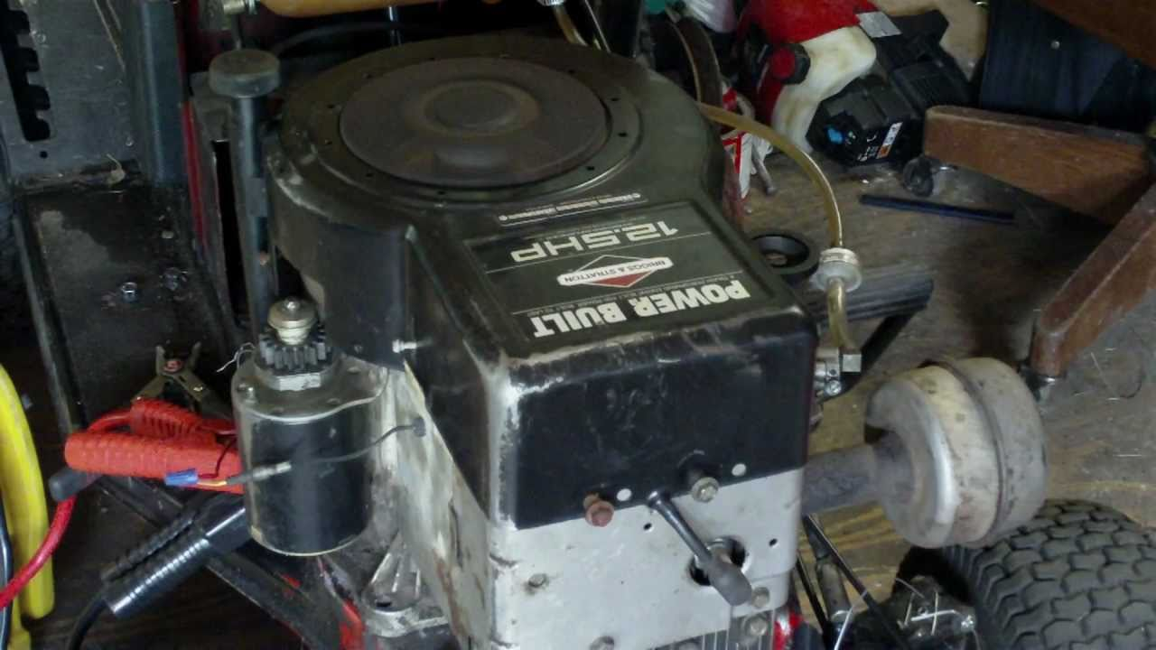 briggs and stratton carb adjustment diagram wiring for trailer plug with brakes new engine! 12.5 hp horsepower power built engine - youtube