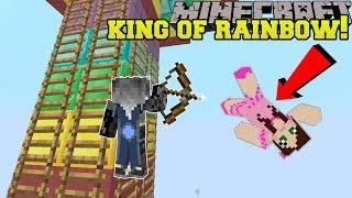 Minecraft: RAINBOW KING OF THE LADDER! - HEAD HUNTER THEME PARK [3]