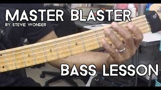 Master Blaster by Stevie Wonder /// Groove Academy Bass Lesson #10