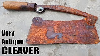 Antique Rusty Butcher's Cleaver RESTORATION