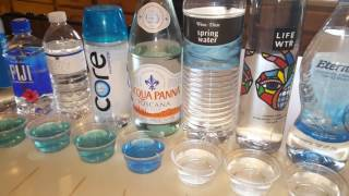 Ph Balance test on 16 different waters
