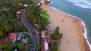 Sri Lanka - Unawatuna Beach Aerial view