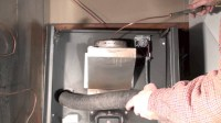 Cleaning the oil furnace heat exchanger - YouTube